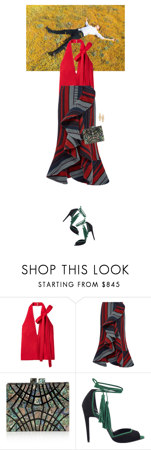 """Untitled #2464"" by wizmurphy ❤ liked on Polyvore featuring Johanna Ortiz, Nathalie Trad, Pierre Hardy, Stella & Dot and johannaortiz"