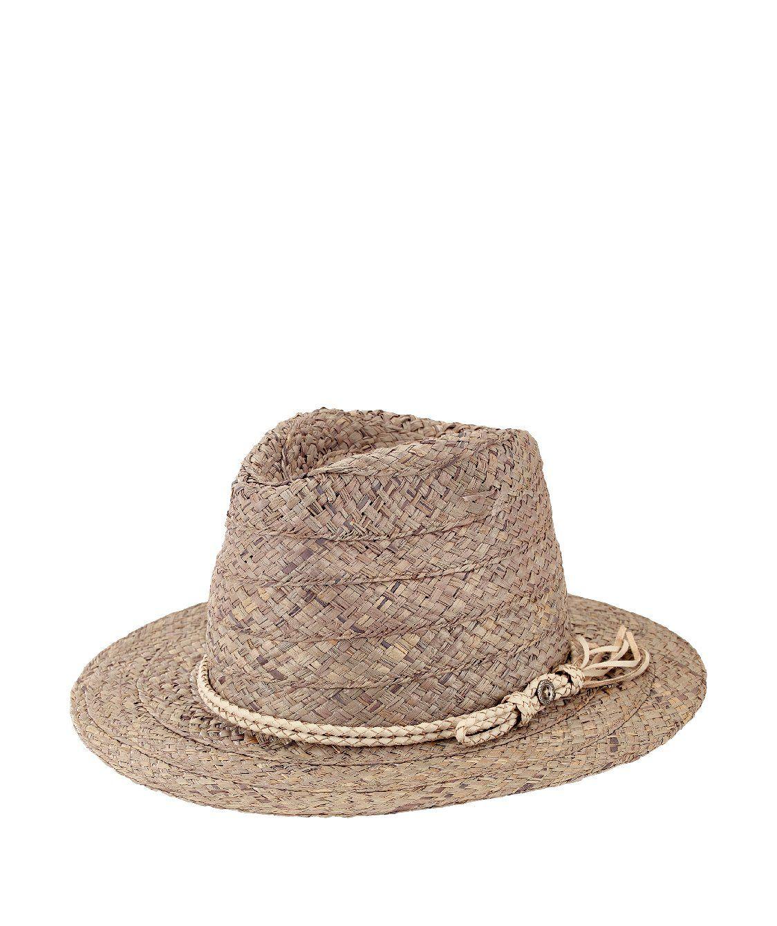 ... San Diego Hat Company. Womens Raffia Fedora W  Double Cord ec08c03133ad