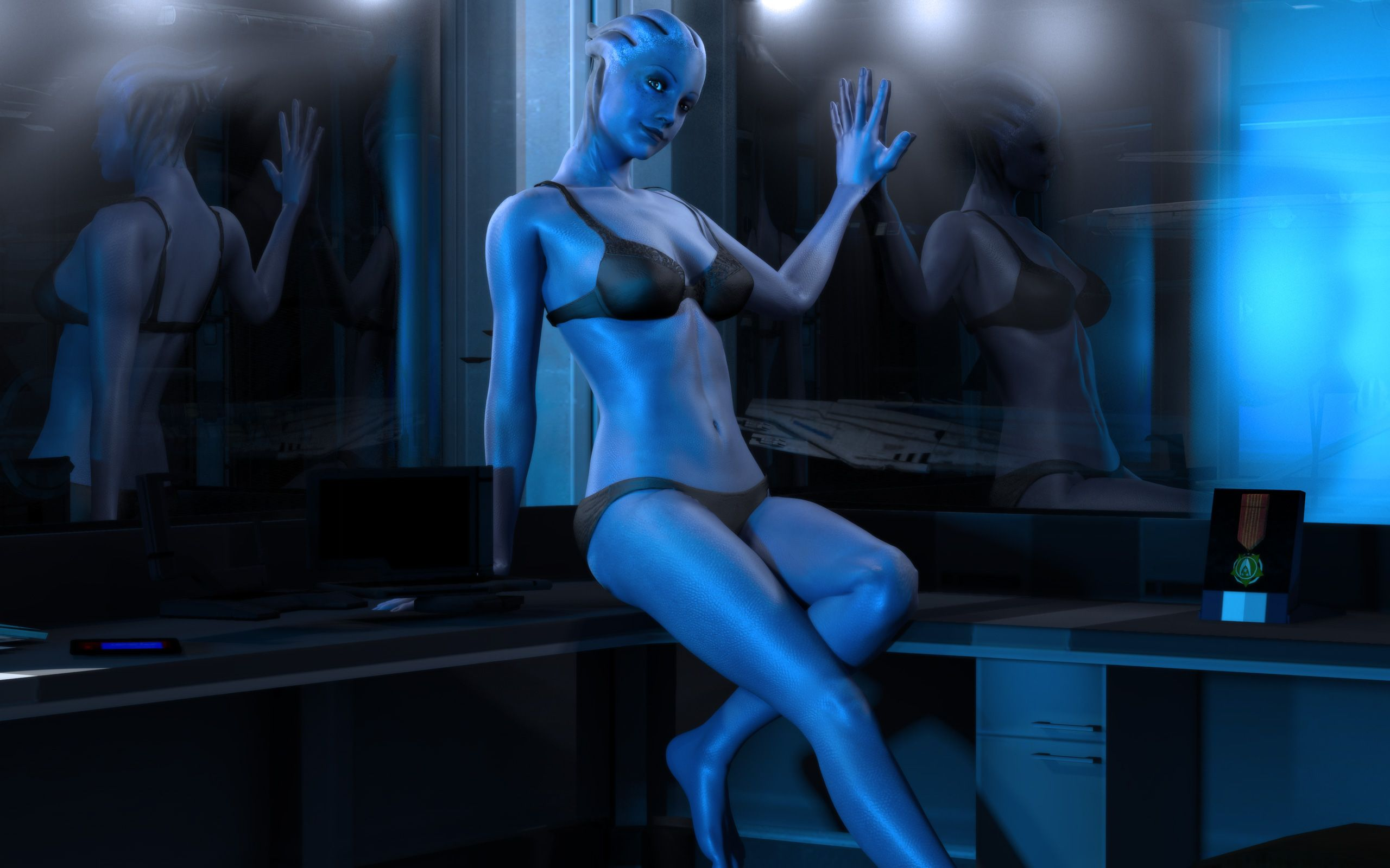 Liara From Mass Effect Waits To Give Shepard A Surprise -9789