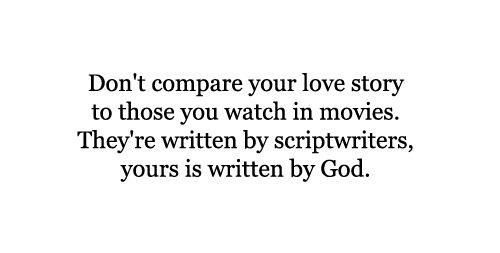 Don't compare you ...