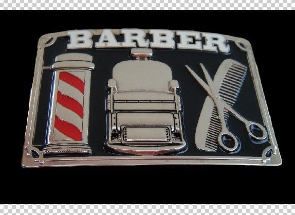 BARBER SHOP HAIRCUT STYLE BARBER'S SCISSORS POLE BELT BUCKLE  #barber #barbershop #haircut #beltbuckle