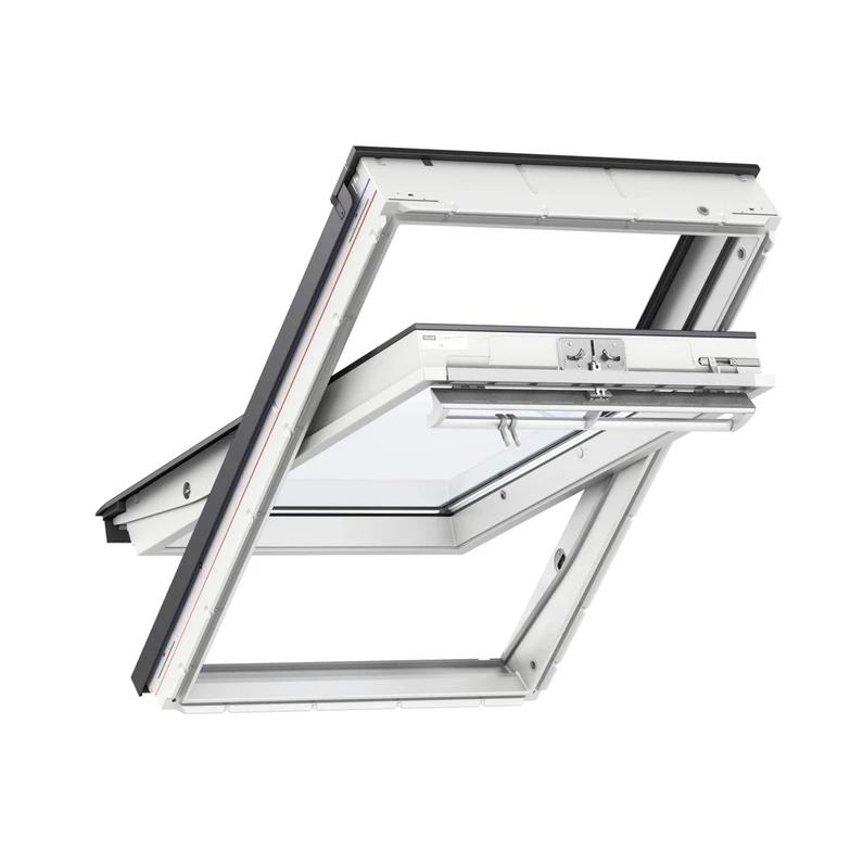 Velux 78 X 98 Confort Everfinish Polyurethane Blanc A Rotation Ggu Mk04 En 2020 Avec Images Velux Fenetre Velux