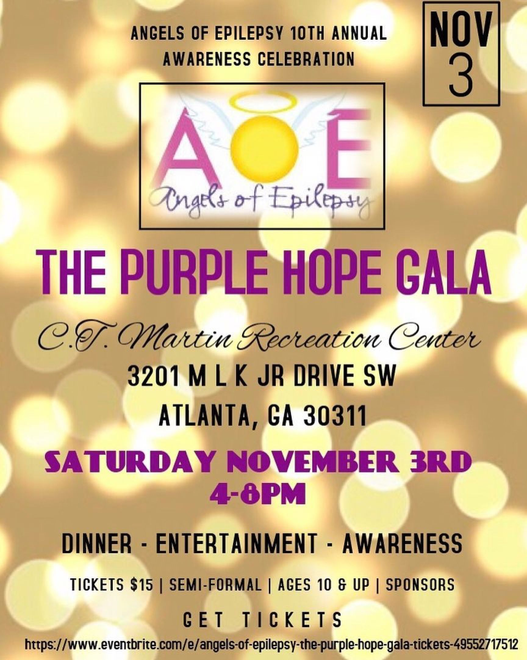 You're cordially invited to the Angels Of Epilepsy 10th