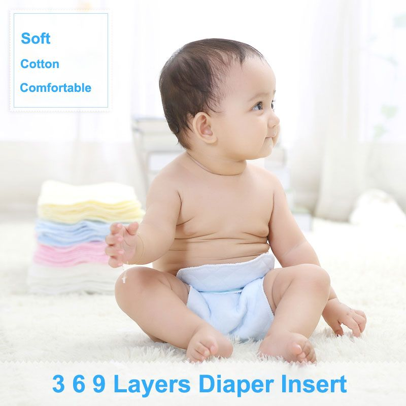 12 Layers High Quality Bamboo Fiber Comfort Insert Liners for Cloth Diaper Baby