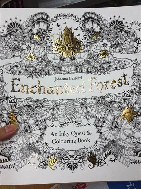 10Pcs Lot English Edition Enchanted Forest Secret Garden 2 Coloring Book For Relieve Stress Graffiti