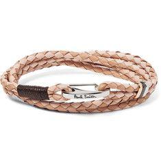 8bc8122da6d5c Paul Smith - Two-Tone Woven Leather Wrap Bracelet   Man   Jewelry ...