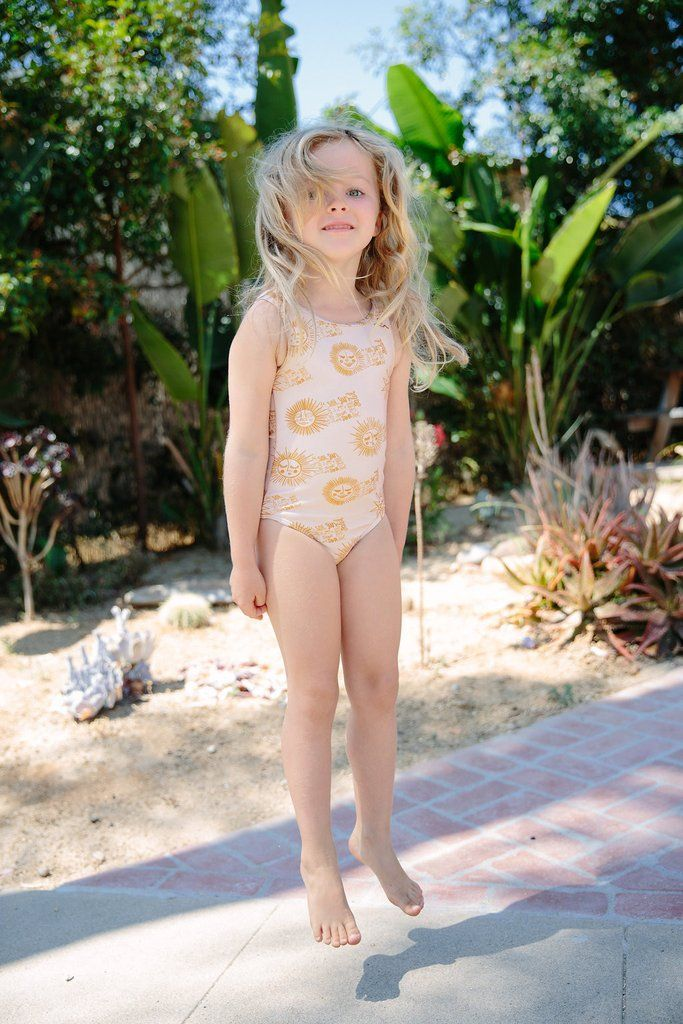 0550fa3c79 El Sol / Nude One-Piece Swimsuit (Toddler Girls & Little Girls ...