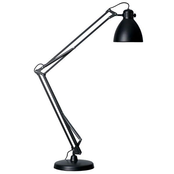 L 1 pöytävalaisin, musta | Architect lamp, Retro lamp, Desk lamp
