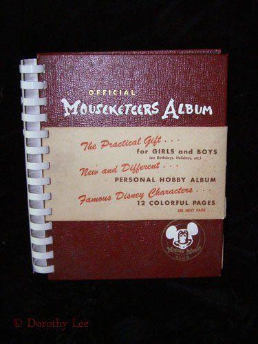 Disney Official Mouseketeers Album  #disney #disneyana #collectibles