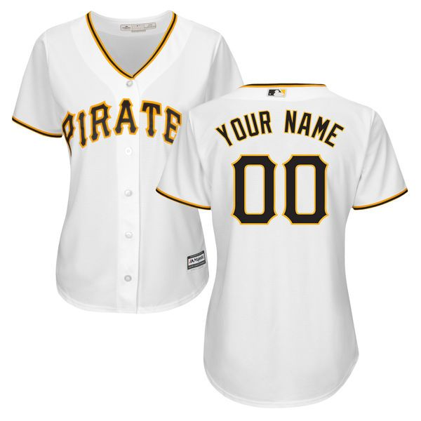 45ef8aa1a MLB Women s Pittsburgh Pirates - Majestic White Home Cool Base Custom Jersey  - Product ID
