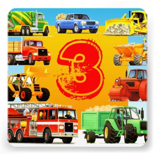 Big Kids Truck Birthday Party Invitations