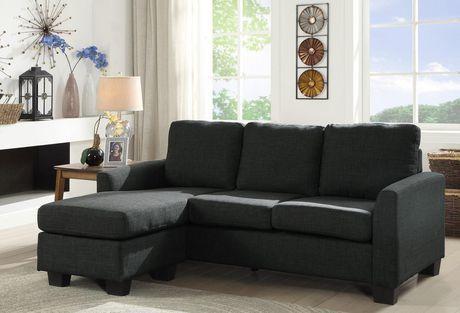 Topline Home Furnishings Grey Reversible Sofa Chaise Grey Grey Sectional Sofa Sectional Sofa Upholstered Sectional