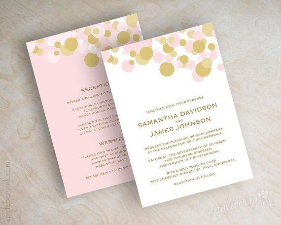 polka dot wedding invitations - Google Search