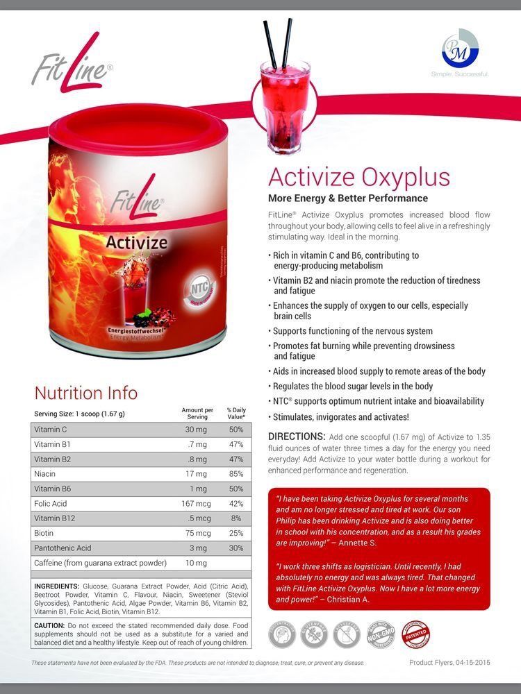 More energy and concentration 🔝activize vitamines