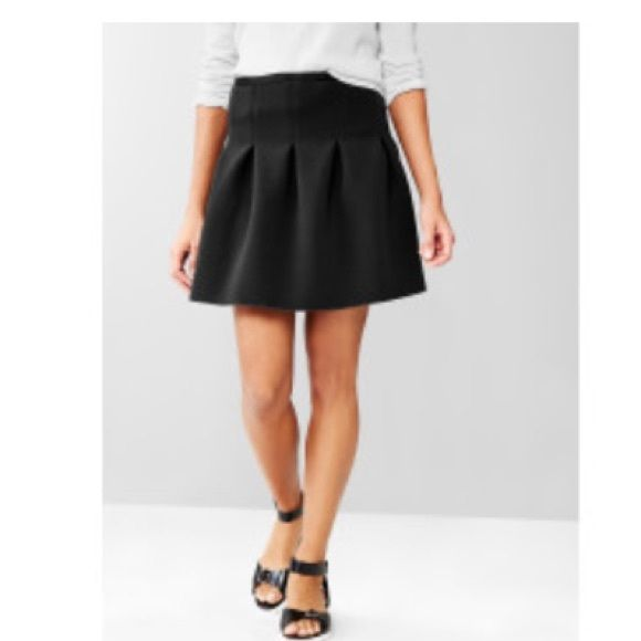 9e49f153ca Pleated Scuba Skirt NWT black scuba skirt. See description in last photo. GAP  Skirts