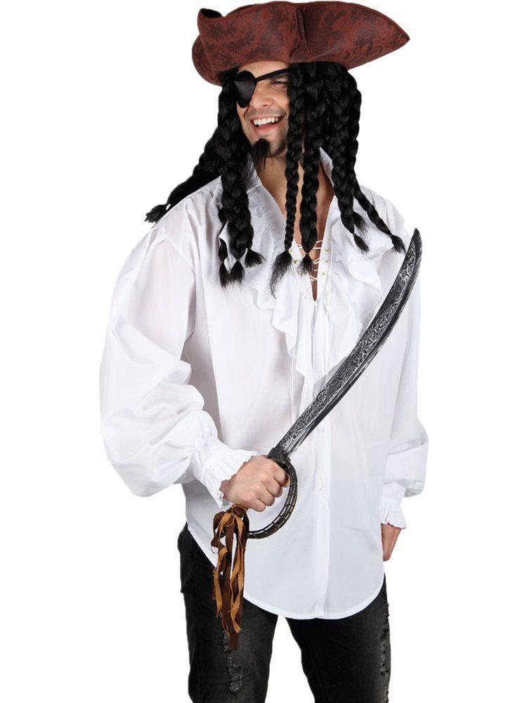 Pirate Shirt Adult Halloween Costume Fancy Dress