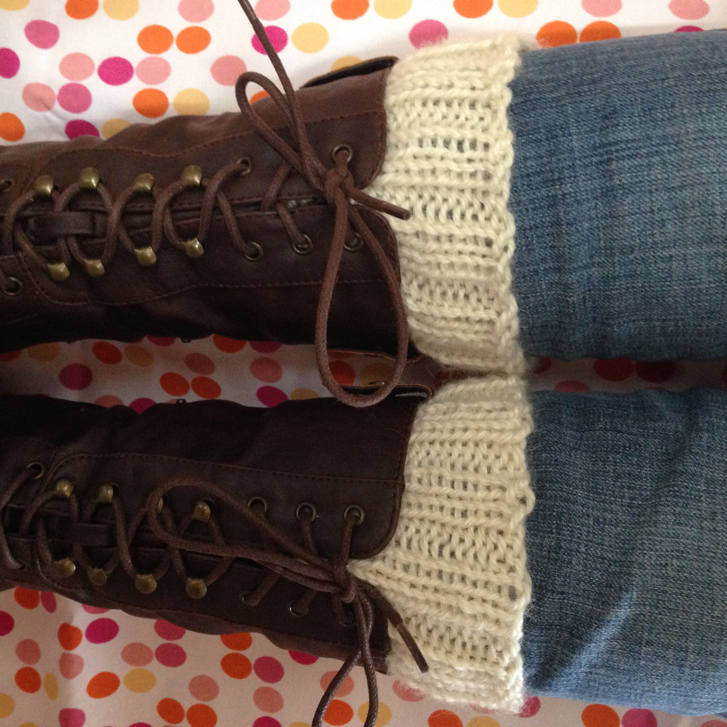 Simple Knitted Boot Cuffs from Alaska Knit Nat   Knitting ...