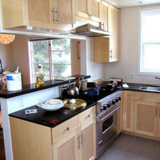 Small Kitchens With Pass Through Hood