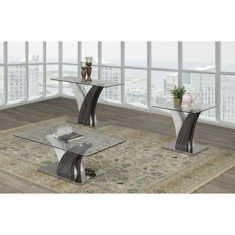 Best Currier 3 Piece Coffee Table Set With Images 3 Piece 400 x 300