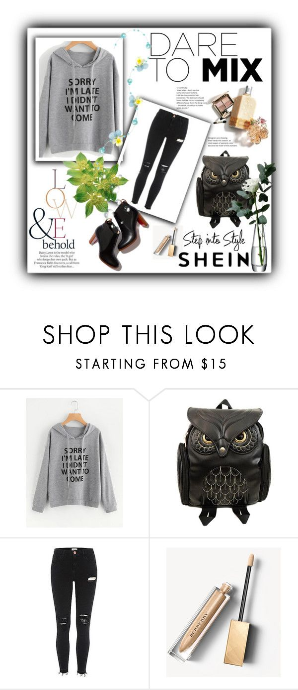 """SHEIN"" by katarina123-clxx ❤ liked on Polyvore featuring Burberry, ASOS and LSA International"