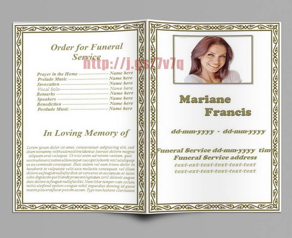 Ethnic Theme Obituary Funeral Program | Funeral Program Templates ...