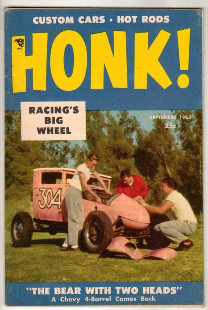 Honk! September 1953 #5 Vintage Car Magazine Classic Custom Hot Rod ...