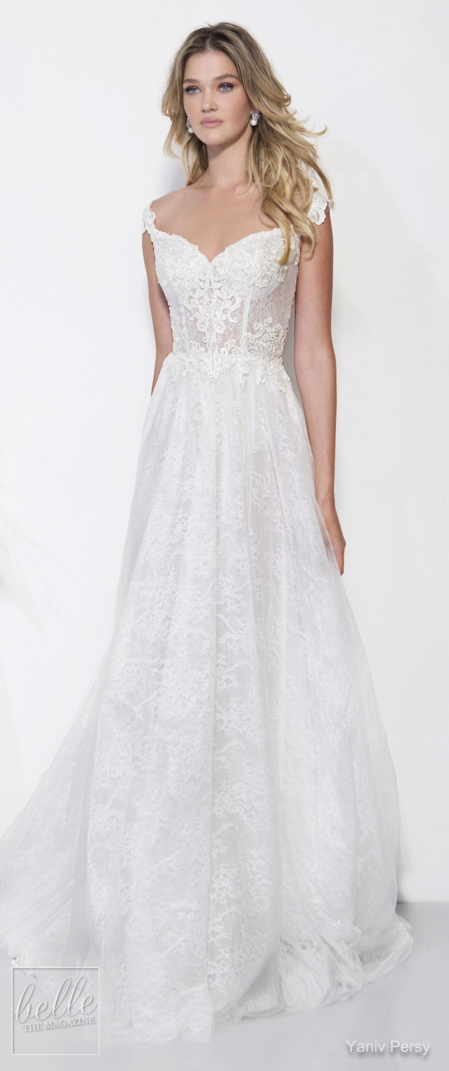 Lace dress in black august 2019 Yaniv Persy Wedding Dresses Spring  Bridal Collection