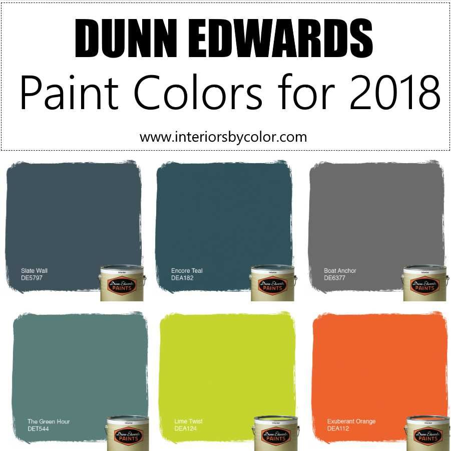 Popular House Colors 2018 Exterior: Top 6 Dunn Edwards Paint Colors For 2018