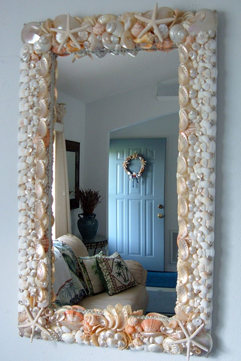 beautiful mirror! | HOUSE | Pinterest | Espejo, Conchas y Espejos ...