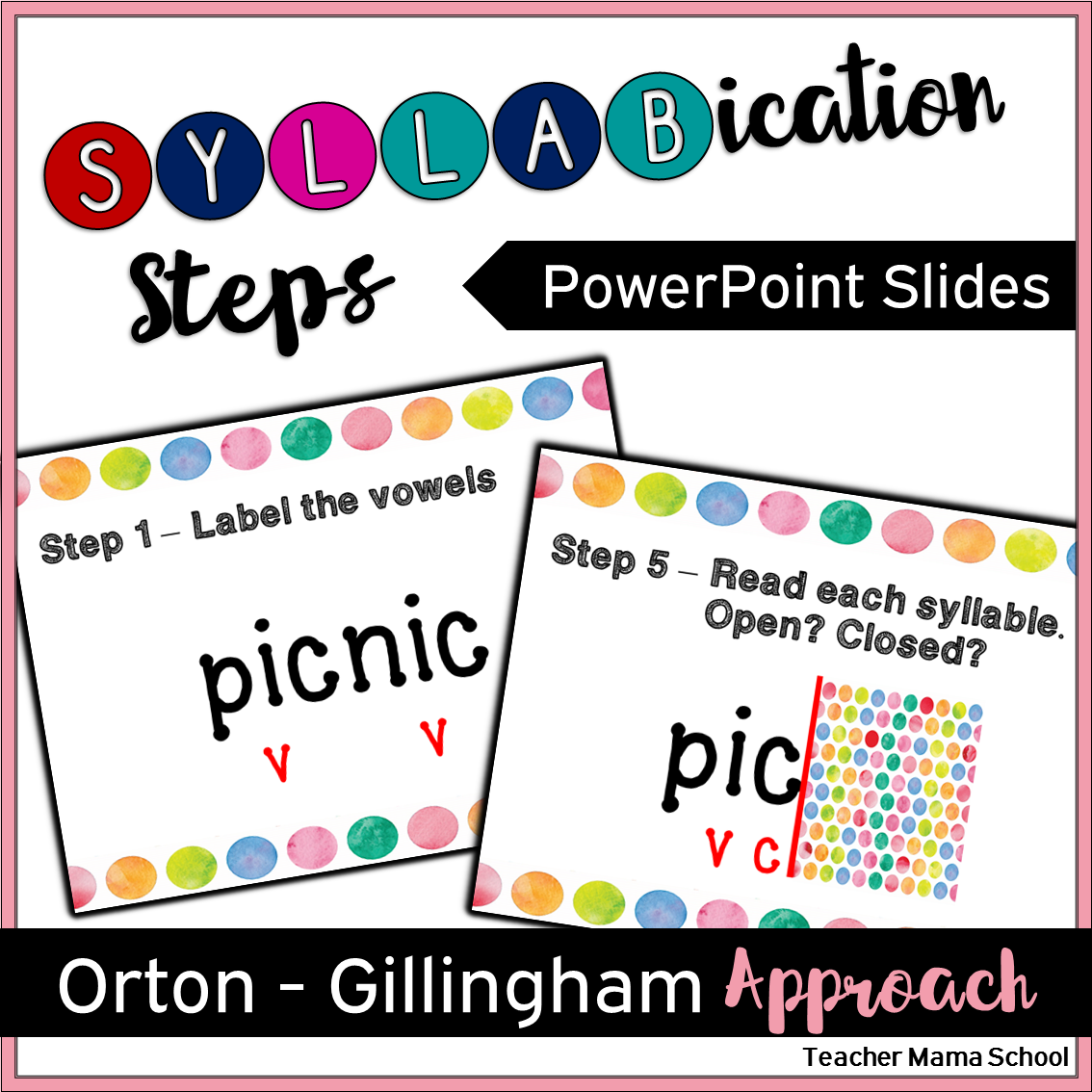Syllabication Division Orton Gillingham