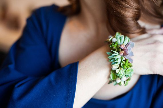 A succulent bracelet is a unique twist on the classic corsage.