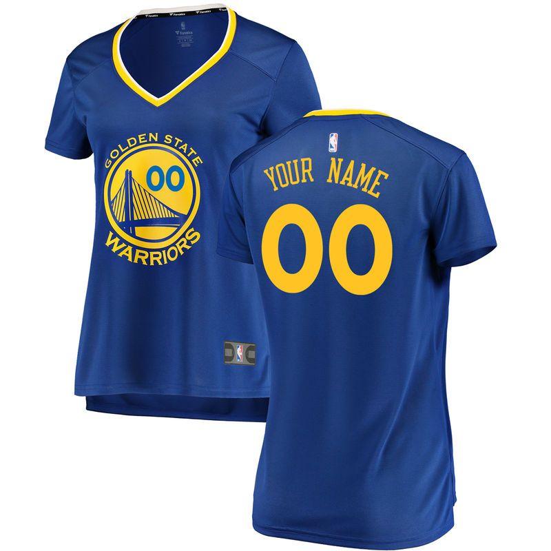 Golden State Warriors Fanatics Branded Women s Fast Break Custom Jersey  Royal - Icon Edition 52a4ea70e