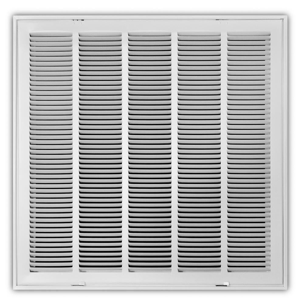 Everbilt 24 in. x 24 in. White Return Air Filter Grille