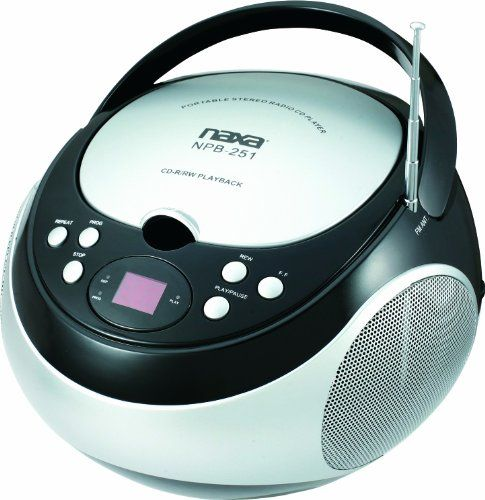 NAXA Electronics NPB-251BK Portable CD Player with AM/FM Stereo Radio Naxa Electronics http://www.amazon.com/dp/B007FQNL08/ref=cm_sw_r_pi_dp_PMgOtb01110YHVCH