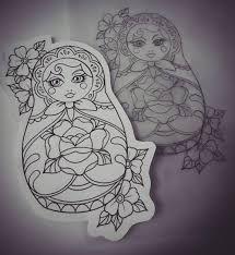 image result for matryoshka tattoo flash tattoo en 2018 pinterest tatouage tatouage de. Black Bedroom Furniture Sets. Home Design Ideas