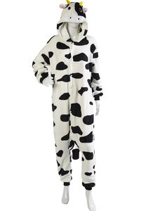 Adults Super Soft Cow Design Button Up Onesies (Various ...
