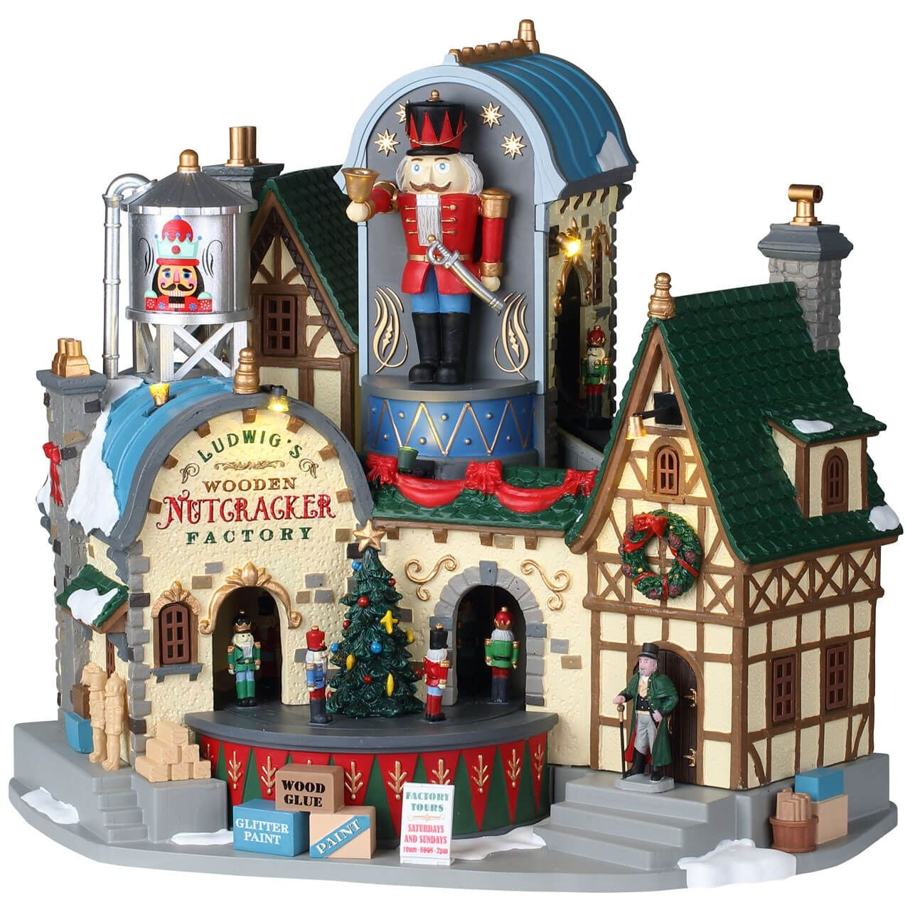 Ludwig's Wooden Nutcracker Factory Lemax christmas