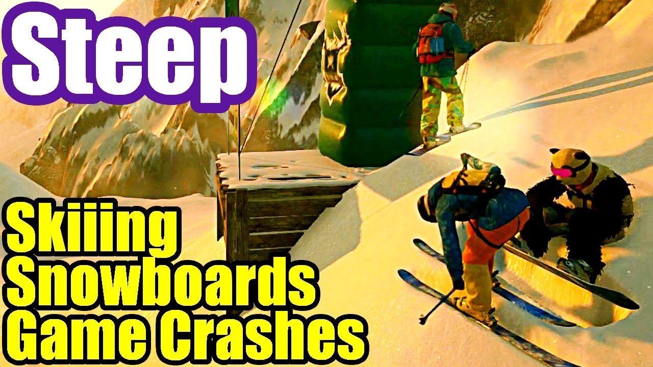 Skiiing, Snowboarding & Game Crashes - STEEP Multiplayer Gameplay PS4 #3