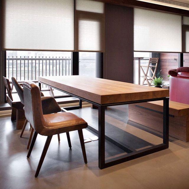Mob lia da sala de estar mesa de jantar e cadeira de ferro for Mobilia kitchen table