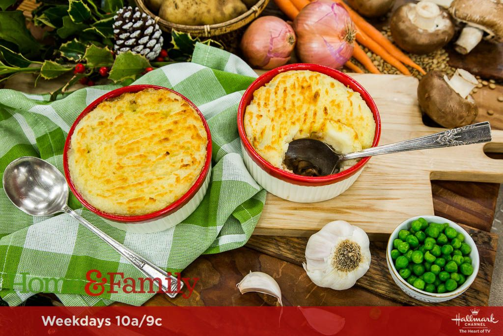 Vegetarian shepherds pie recipe hallmark channel meat and pies delicious vegetarian shepherds pie is a great meat less option this holiday made by forumfinder Images