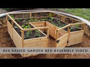 OLT Raised Cedar Garden Bed 8'x8', 8'x12' or 8,x16, With ...