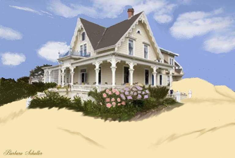 Victorian home on the beach