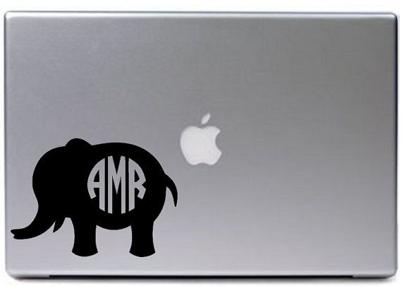 Elephant Monogram Decal Gifted Thimble Pinterest Monogram - Elephant monogram car decal