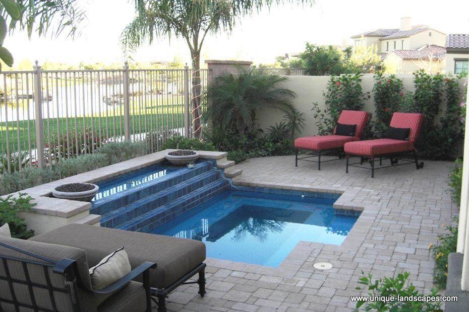 Paver Patios Photo Gallery Small Backyard Pools Small Backyard Design Pools For Small Yards