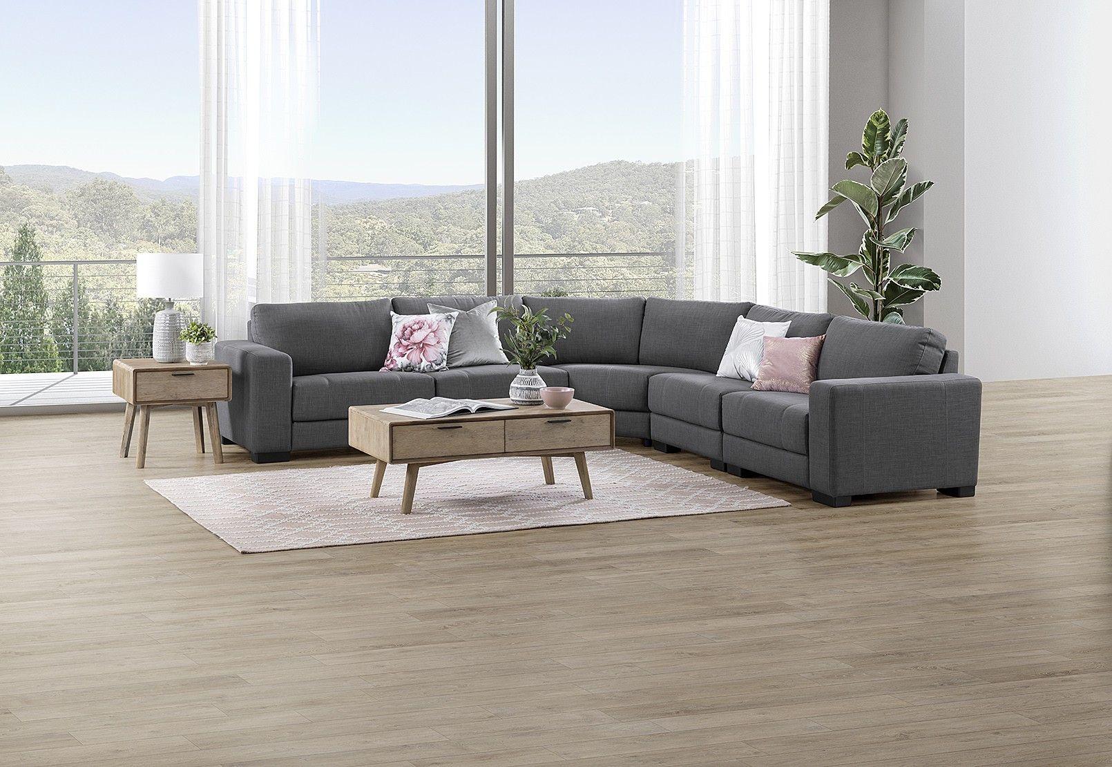 Omaha Fabric Corner Lounge Amart Furniture Furniture Lounge Home Decor