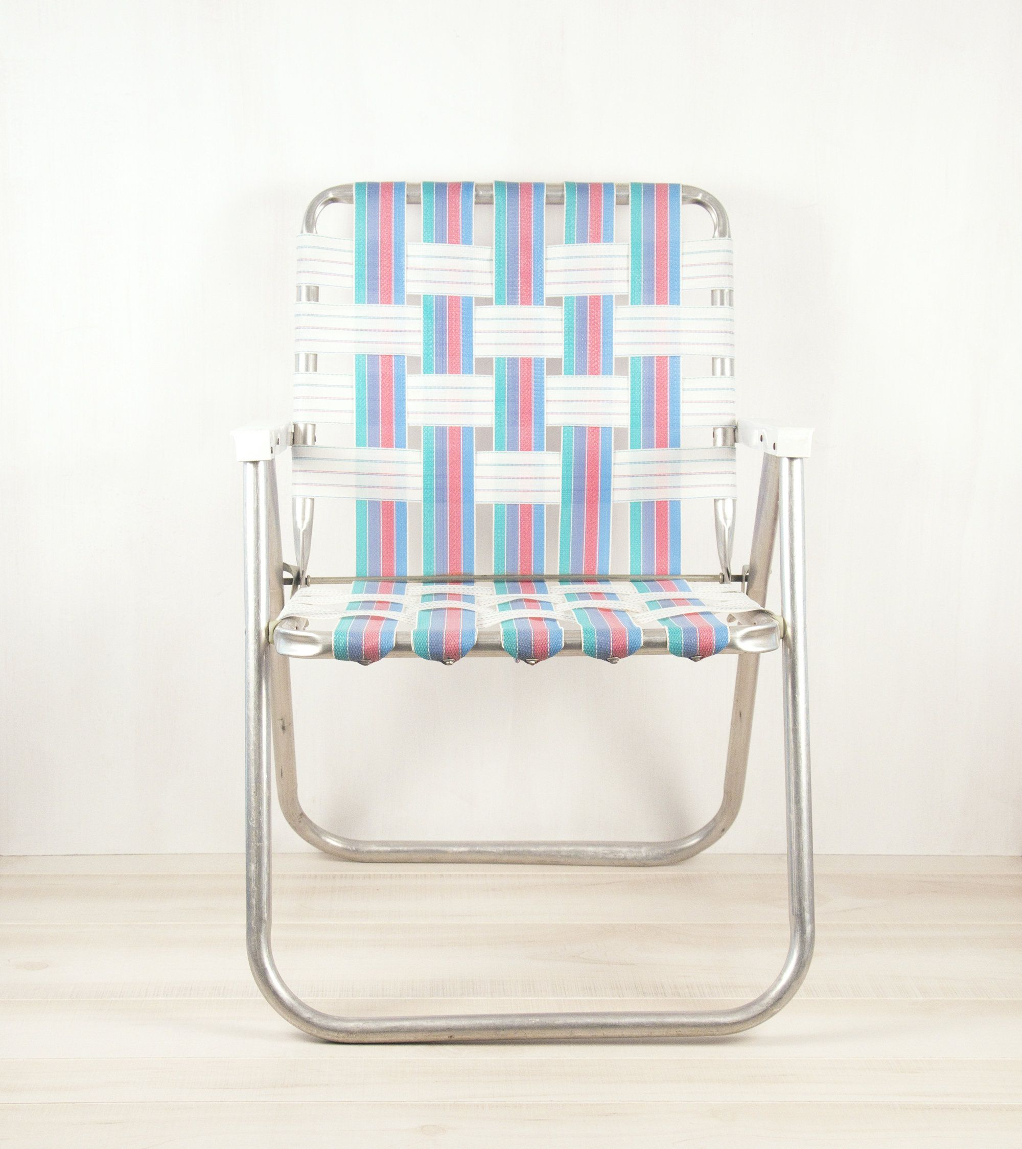 Superb Aluminum Webbed Folding Lawn Chair Blue Pink Green Caraccident5 Cool Chair Designs And Ideas Caraccident5Info