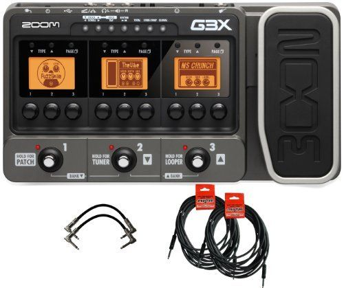 Zoom G3x Usb Guitar Effects Console With Expression Pedal W 4 Free Cables By Zoom 199 99 The Zoom G3x Multi Ef Guitar Effects Effects Pedals Guitar Pedals