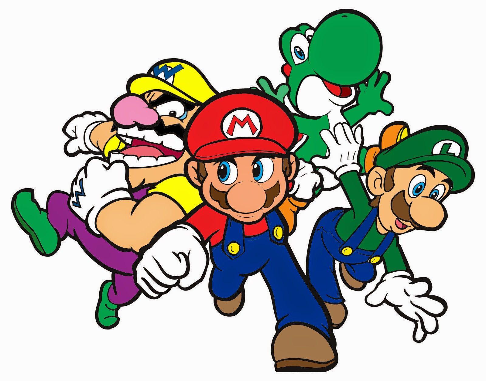 Coloring Page Mario Bros Party Super Mario Party Mario And Luigi