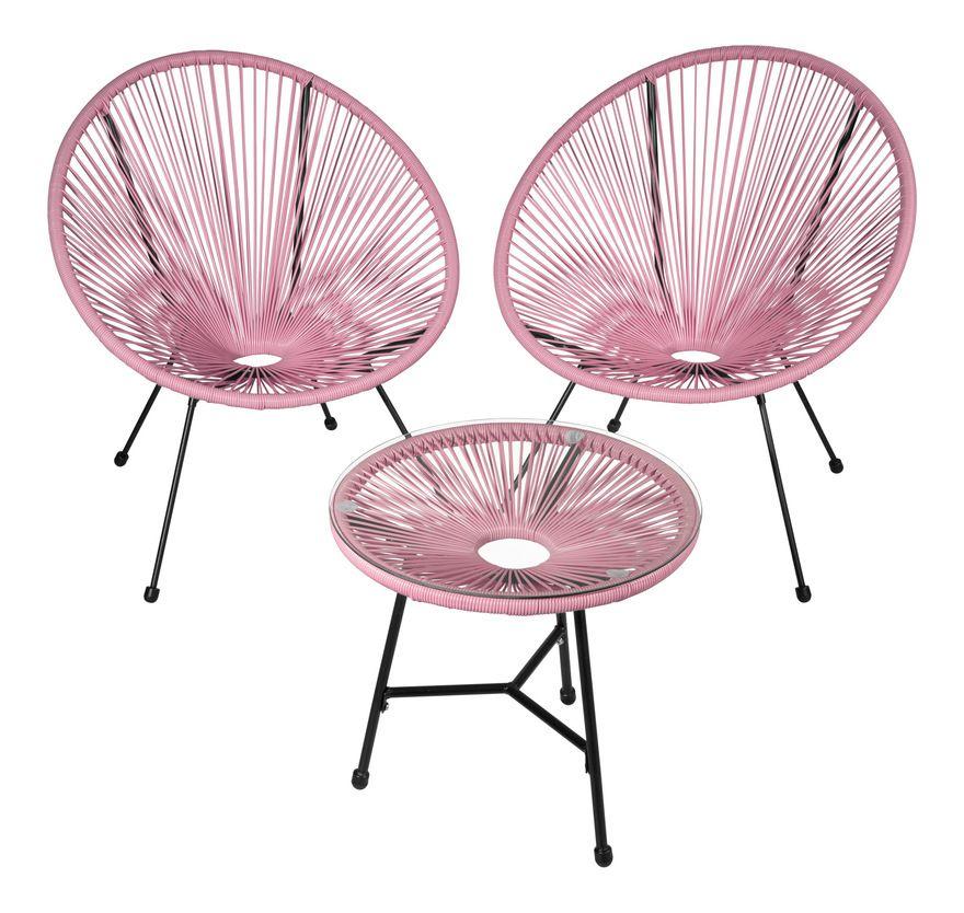 2 Fauteuils Acapulco et 1 Table de Jardin de Salon Design ...
