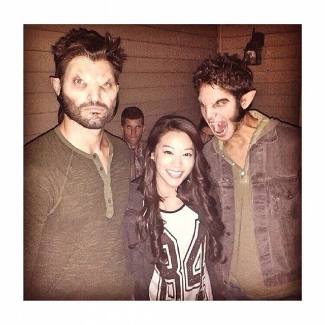 Two wolves and one fox #team #Teenwolf I love this pic